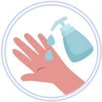 Domiciliarios usan desinfectante - Medidas de prevención COVID 19 Bogotá - Mercado a granel